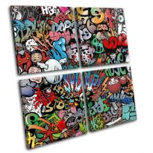 Funky Abstract Graffiti - 13-0690(00B)-MP01-LO